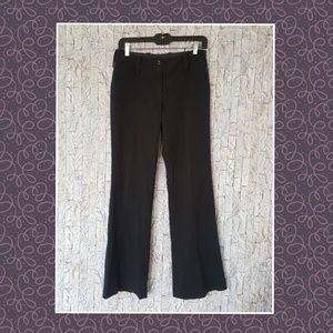 Black Wide Leg Slacks Work Pants